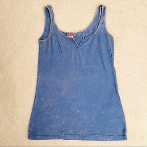 Distressed tank top